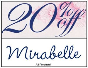 20 off Mirabelle_all products